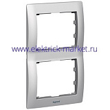 Legrand Galea Life Тертый Алюминий/Brushed Aluminium Рамка 2-я верт