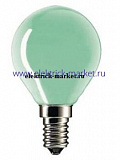 Party 15W E14 220-240V P45 GREEN (PHILIPS) - лампа