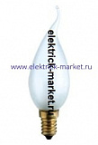 DECOR С35 FLAME FR 25W E14 (230V) FOTON_LIGHTING (S109) - лампа свеча на ветру матовая
