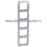 Legrand Galea Life Тертый Алюминий/Brushed Aluminium Рамка 5-ая верт