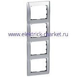 Legrand Galea Life Тертый Алюминий/Brushed Aluminium Рамка 4-я верт